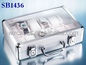 aluminum watch boxes wholesale for 12 watches manufacturer