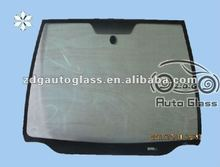 laminated front windshield glass with wooden crate packing
