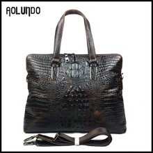 Luxury crocodile pattern cowhide branded handbags in cheap