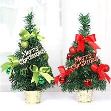 2017 New Artificial Flower pot style small mini Christmas tree