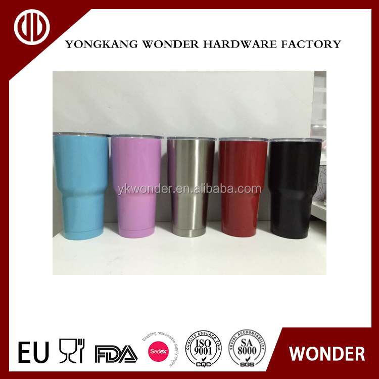 30OZ double wall stainless steel powder coating vacuum coffee mug