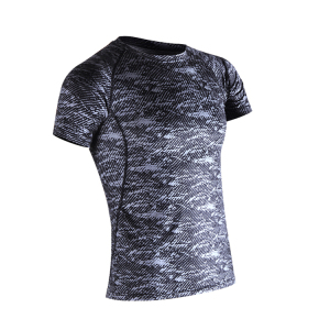 High quality lycra gym tshirts men wholesale compression shirts