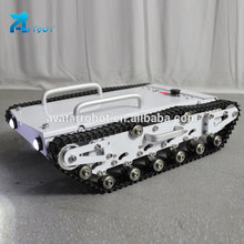 Automatic humanoid biped robot homemade rc tank tracks high quality rubber tracked mobile car