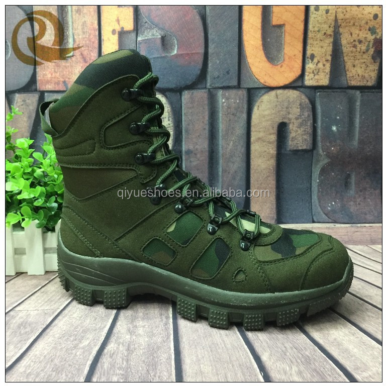 Army green genuine leather jungle army combat boots shoes