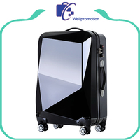 Black hard abs travel house luggage/trolley luggage with wheels