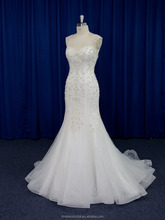 Unique straps sweetheart beaded embroidered lace mermaid wedding dresses new model