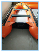 Fwulong 4/6people high speed boats inflatable catamaran for sale