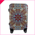 Colorful printed hard luggage abs abs spinner luggage for teenagers
