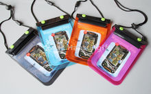 cell phone neck hanging bag with adjustable string