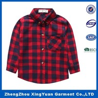 china wholesale clothing for boys fancy oxford plaid dress shirts kids shirts 2016