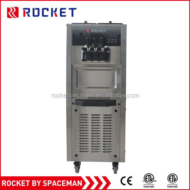 Big capacity high quality 3 flavors special new style 3 in 1 ice cream machine price