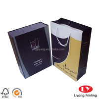 Luxury Packaging Cardboard Wine Box in Two Bottle Packing with Satin Fabric Insert for Gift ---with bag design for set