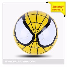 PVC leather sewing stitched spider man soccer ball for kids