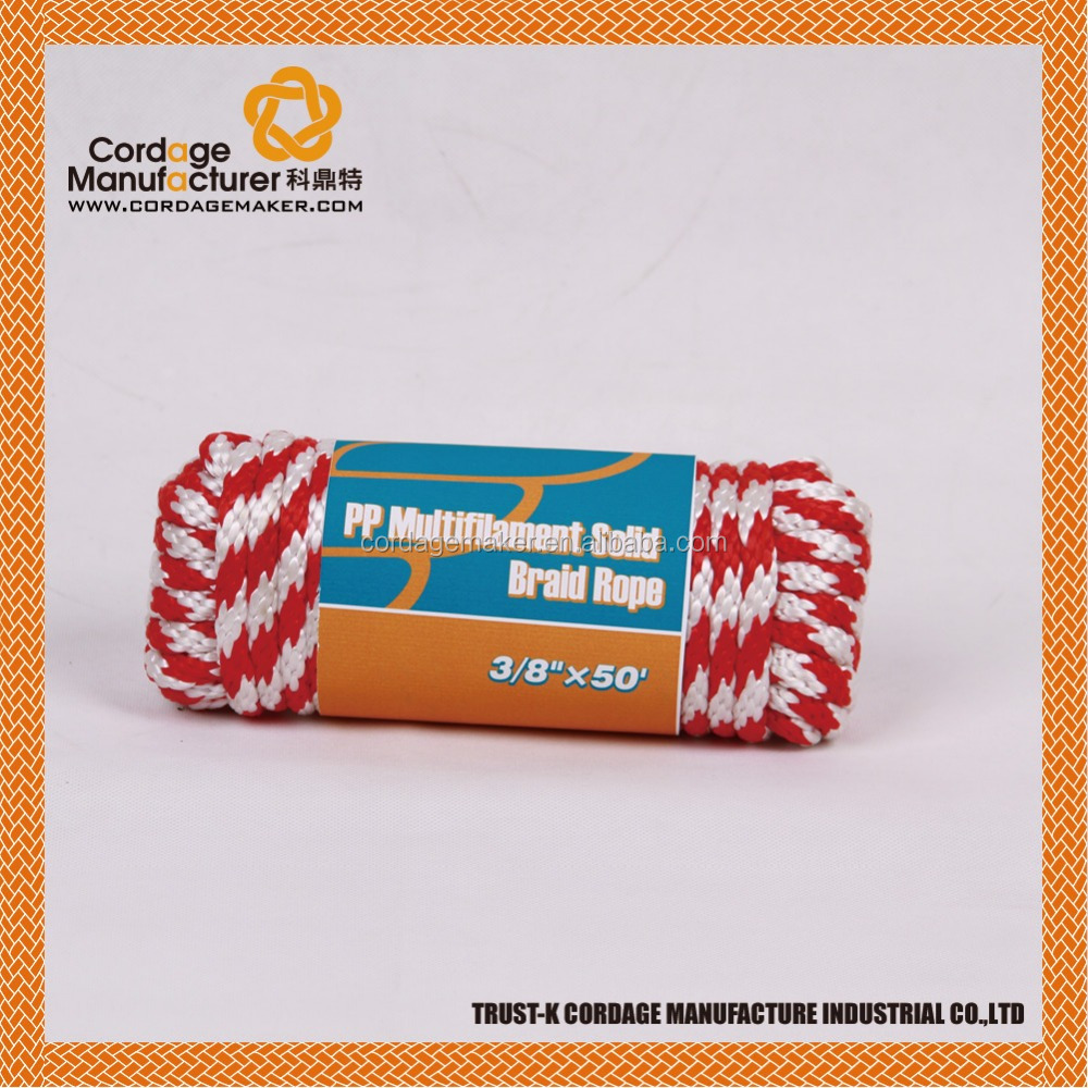 8mm PP Multifilament Solid Braided Rope