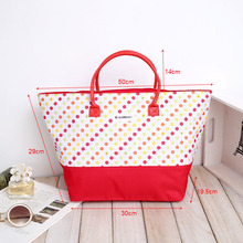 white red stripe cotton canvas zipper beach bags, promotional recycled cotton gifts tote handbags with zipper