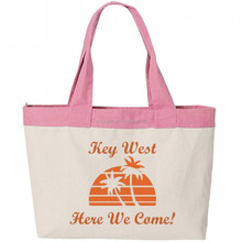 Fashion handbags Family Vacation Zippered Tote Bag-Key West
