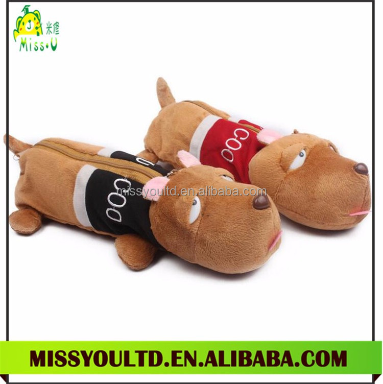 School Promotional Gift Plush Animal Pencil Case Wholesale