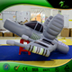 2m Long Inflatable Military Airplane, Inflatable Warcraft Replica, Inflatable Fighter Inflatable Model