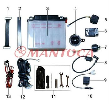 Tricycle parts: Battery, electric parts