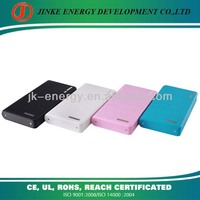 Hot Sale colorful wallet 20000mAh Portable Power Bank with Dual USB Port