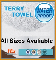 Used Hotel Hospital Terry Fabric Waterproof Fitted Bed Sheet