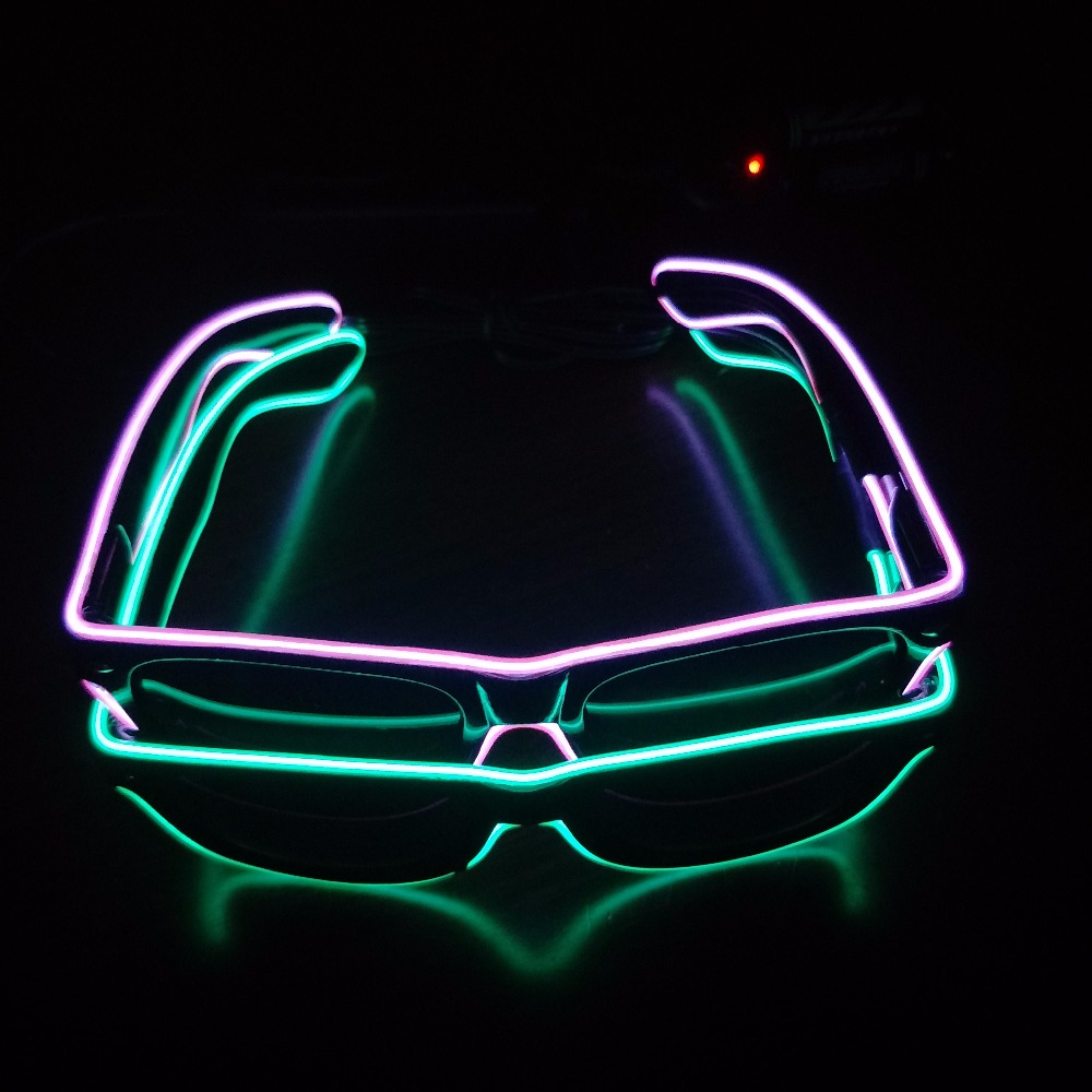 Professional wholesale LED equalizer flashing el wire glasses for events and party