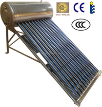 high quality non-pressurized solar water heaters with changeable frame
