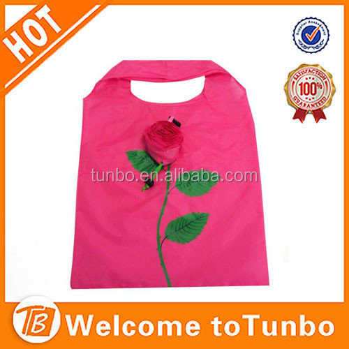 Wholesale folding flower shopping bag rose shopping bag