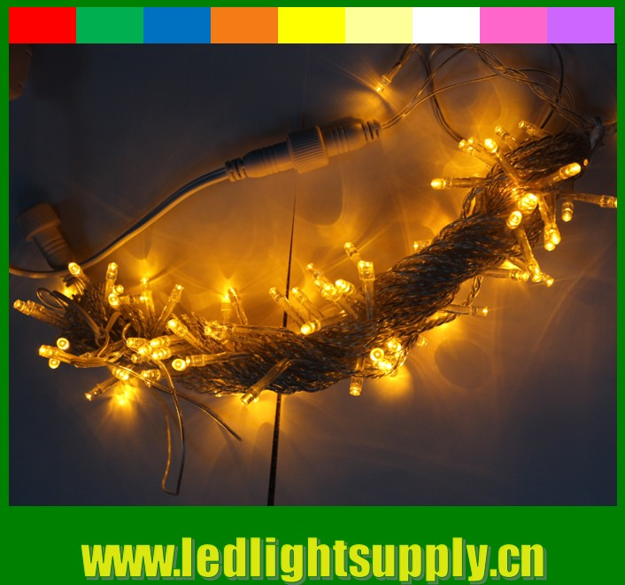 100 bulbs low voltage 24 volt yellow led christmas string light Topsung Lighting
