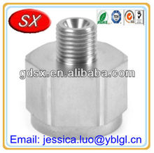 Sand Blasted Steel CNC Machining Turning Hexagon Parts Shaft Bolt Hex Head Bolt with Threaded Short Coupling Body