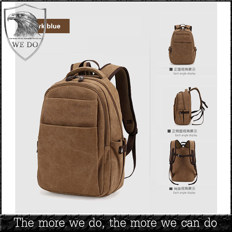 high quality factory custom organic canvas backpack