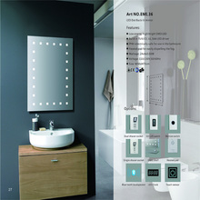 Five-Star Hotel Decorative Wash Basin Mirror with LED Light