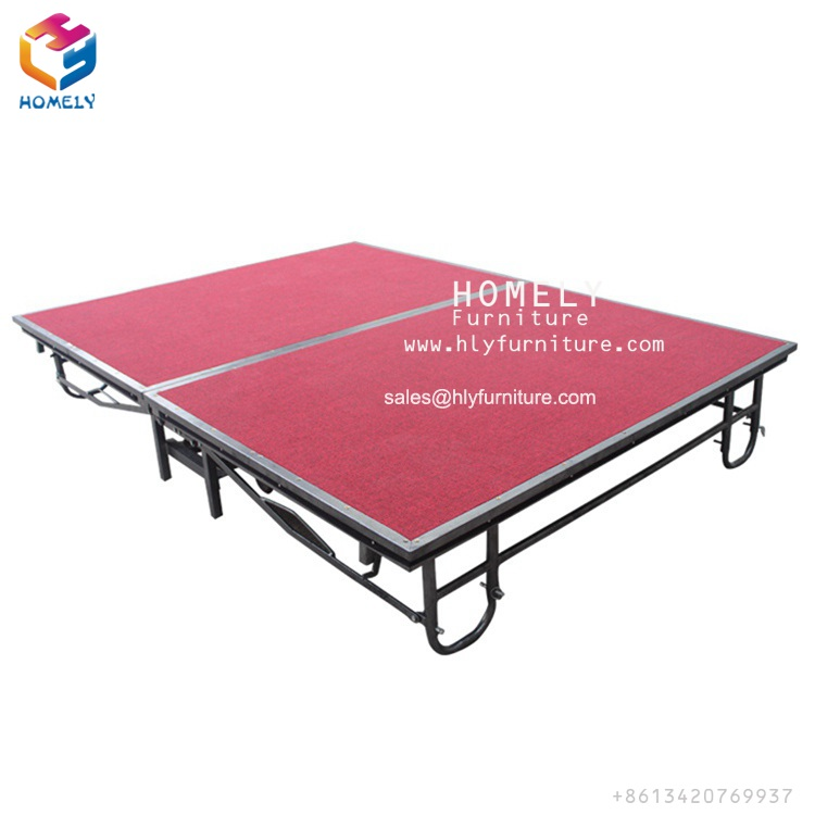 Foshan Homely Wholesale Modern Hotel Restaurant Wedding Dance Party Metal <strong>Stage</strong> Red Carpet for Outdoor Event