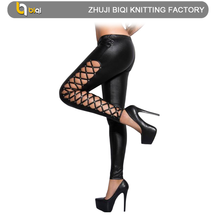 BQ-123480-B black milk sexy ass pvc leggings factory