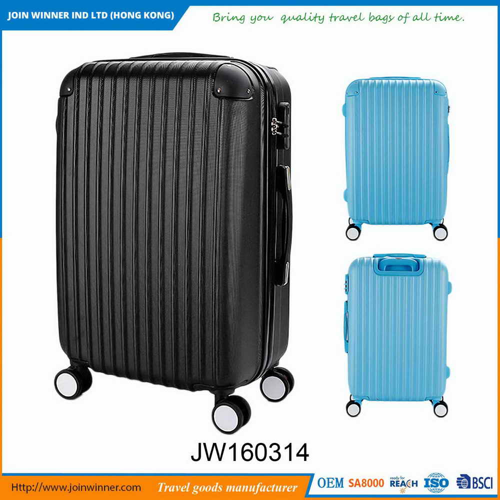 Manufacturer Supply Hard Case Wheeled Luggage With Iso9001:2008