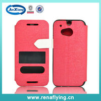 Chinese factory TPU flip mobile phone case for htc one M7