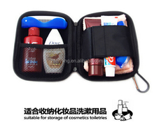Cosmetic bag PVC wash carrier EVA travel case with zipper mesh pocket