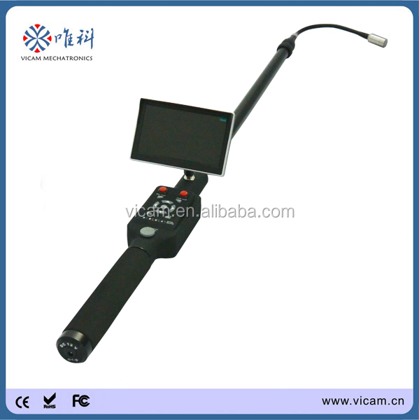 Pole pipe video inspection camera with DVR video recorder