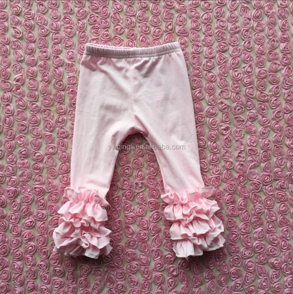 Hot Style Baby Icing Ruffle Pants For Toddler Girl Wholesale Children's Boutique Clothing Baby multicolor Icing Legging