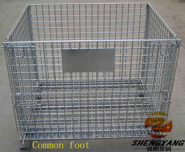 Outdoor used solid show cages larger wheels movable goods transport containers loading foods Gitterboxes wire mesh containers