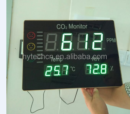 HT-2008 Indoor 388*288mm Portable Wall hanging CO2 Temperature Humidity Meter CO2 monitor