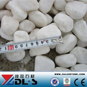 Natural River Stone White Round Pebble Stone 2-4cm