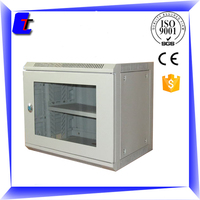stainless steel IP66 CE, ISO9001-2008 19 inch 6U wall mounted network cabinet