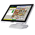 White EPOS/pos terminal/ touch screen systems for Restaurants Retails Bars all in one computer