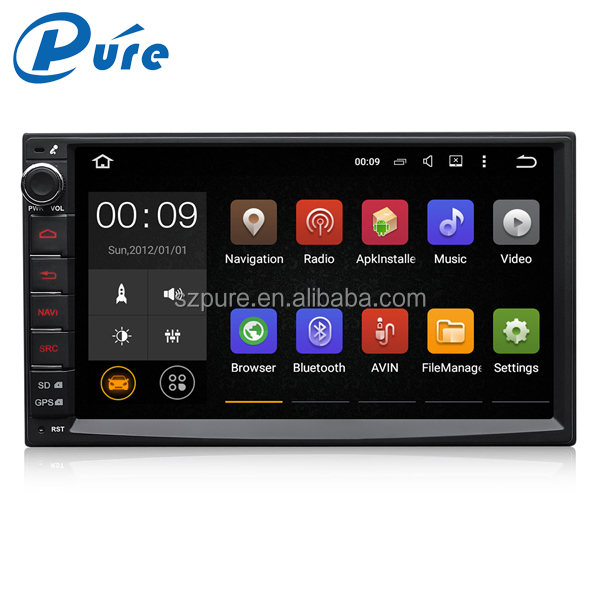 "Factory direct supply wholesale 7"" capacitive touch screen android 5.1.1 2 din car dvd player"