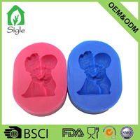 2016 new diy silicone baby shape 3d fondant mold candy mould soap mould