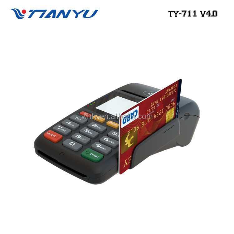Mobile EFT POS Payment Terminal MPOS TYHESTIA 711 V4.0 Handheld POS manufacturer pos software