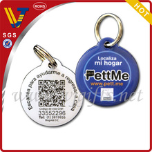Popular epoxy qr code dog tag id tag with double circle