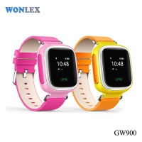 Wonlex Good looking personal wrist watch gps tracer phone with two way communication supporting 2 family numbers
