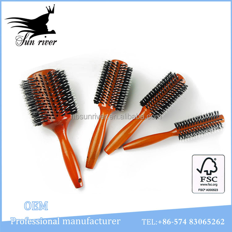 Natural fashion hair straightener comb wholesale